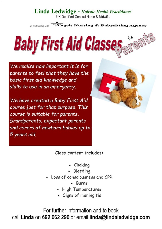 Baby first aid, Linda Ledwidge, parents, first aid, newborn